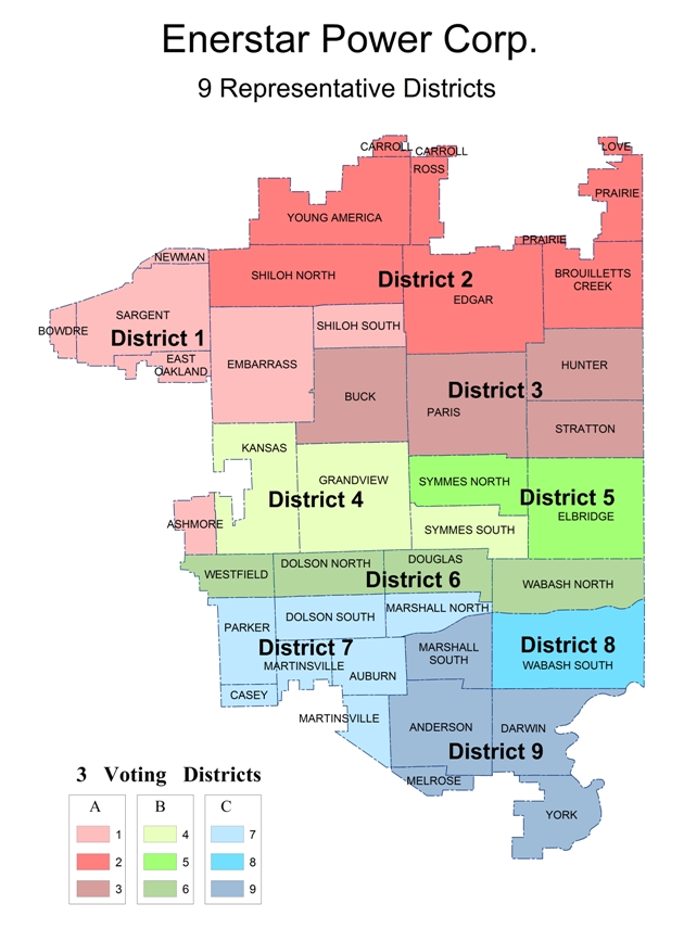 Paris Map Districts.Map Of Board Districts Enerstar Electric Cooperative